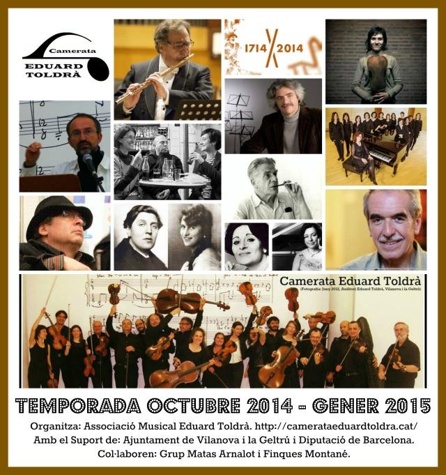 Collage  Temporada Octubre 2014-Gener 2015
