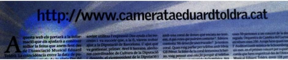 Articles, Camerata Eduard Toldrà