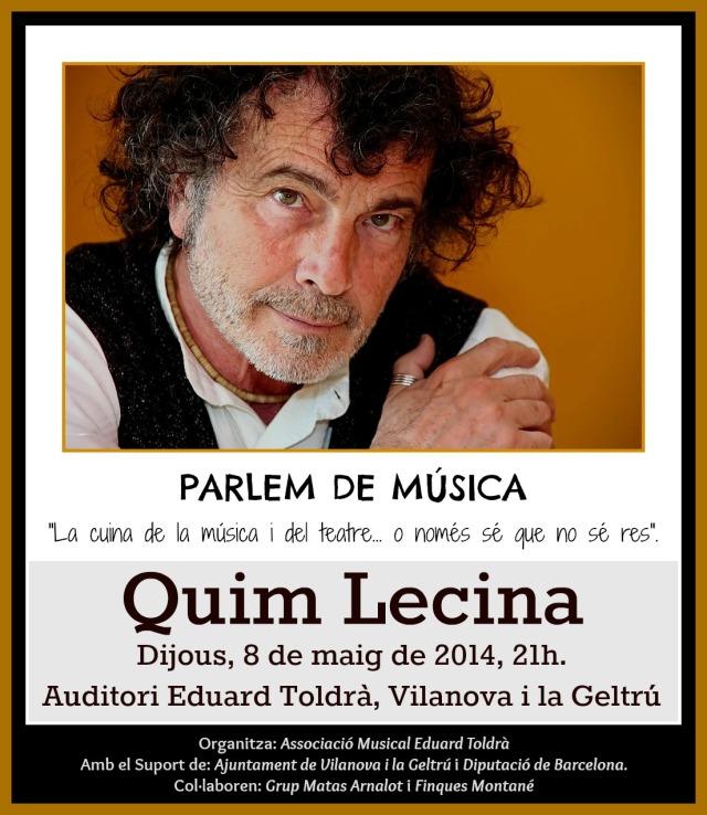 Cartell Quim Lecina, Parlem de Música