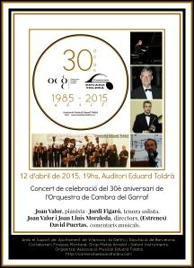 Cartell 30 aniversari OCG-CET